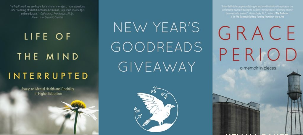 New Years Raven Books Giveaway: GRACE PERIOD and LIFE OF THE MIND INTERRUPTED